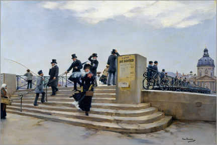Gallery print  A Windy Day on the Pont des Arts - Jean Beraud