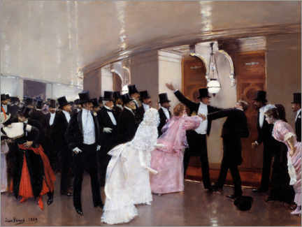 Wall sticker  An Argument in the Corridors of the Opera - Jean Beraud