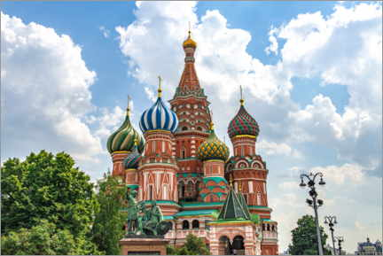 Wall sticker  St. Basil's Cathedral in Moscow III - HADYPHOTO
