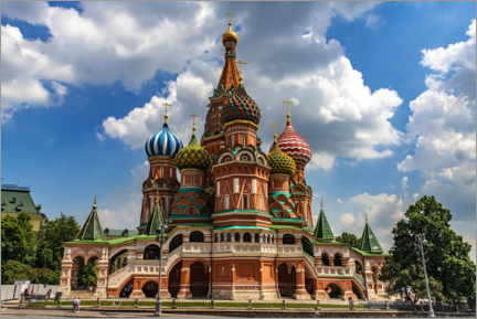 Aluminium print  St. Basil's Cathedral in Moscow II - HADYPHOTO