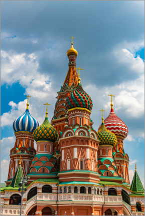 Foam board print  St. Basil's Cathedral in Moscow 1 - HADYPHOTO