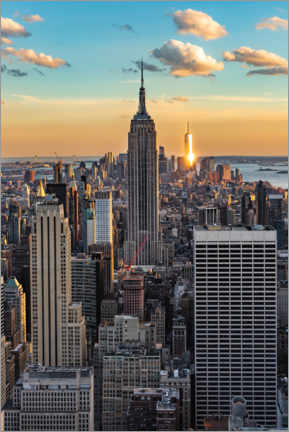 Premium poster Empire State Building at sunset, New York