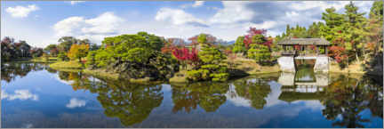 Acrylic print  Japanese garden in the Imperial Villa in Kyoto - Jan Christopher Becke