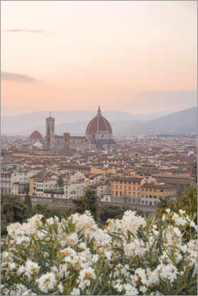 Premium poster Sunset In Florence, Italy