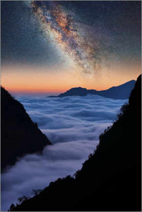 Premium poster  The Himalayas in the evening - Manjik Pictures