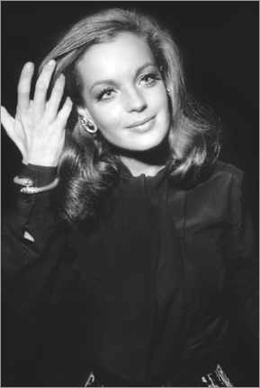 Canvas print  Romy Schneider, at Premiere of The Assassination of Trotsky, 1970