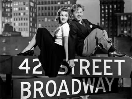 Premium poster Judy Garland And Mickey Rooney, Babes On Broadway 1941