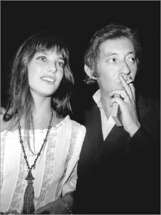 Premium poster  Jane Birkin and Serge Gainsbourg, at the premiere of 'Cannabis', 1970