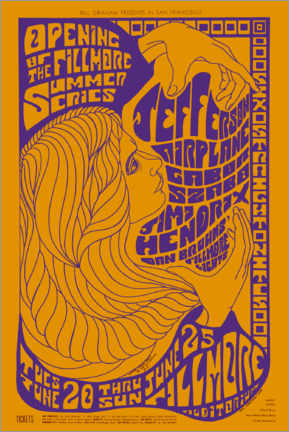 Premium poster  Concert poster for the opening of the Fillmore Summer Series