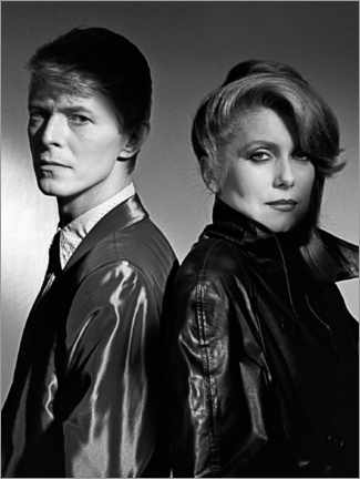 Canvas print  David Bowie and Catherine Deneuve in 'The Hunger', 1983