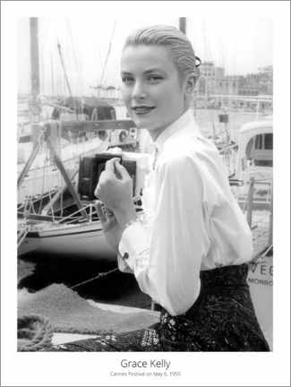 Canvas print  Grace Kelly, Cannes Festival on May 6, 1955