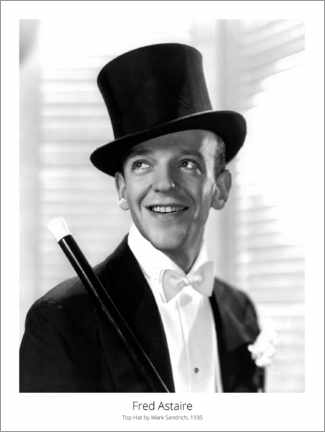 Premium poster  Fred Astaire, Top Hat by Mark Sandrich, 1935