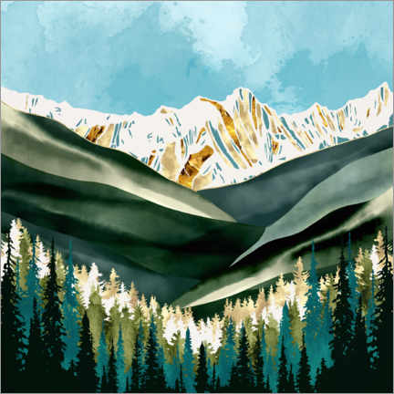 Acrylic print  Ivory mountains - SpaceFrog Designs