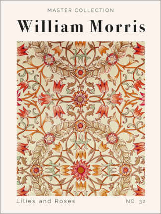 Wall sticker  Lilies and Roses No. 32 - William Morris