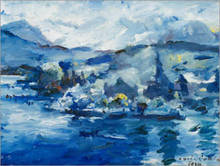 Premium poster  Lake of Lucerne - Lovis Corinth