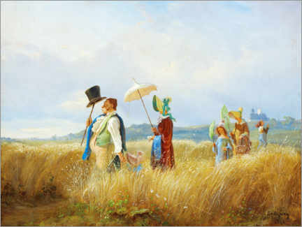 Premium poster  The Sunday walk - Carl Spitzweg