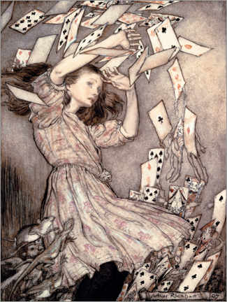 Canvas print  Alice's Adventures in Wonderland - Arthur Rackham