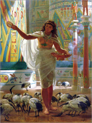 Premium poster  Holy Ibis in the halls of Karnac - Sir Edward John Poynter