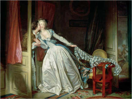 Foam board print  The stolen kiss - Jean-Honoré Fragonard