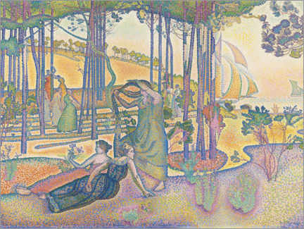 Premium poster  The evening air - Henri Edmond Cross