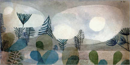Wood print  Oceanic Landscape - Paul Klee
