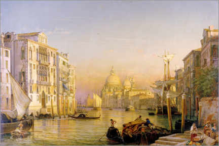 Canvas print  Grand Canal in Venice - Friedrich Nerly