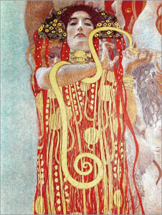 Foam board print  Hygieia detail from the medicine - Gustav Klimt