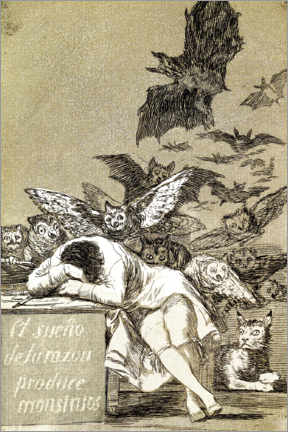 Premium poster  El sueño de la razón produce monstruos (The sleep of reason gives birth to monsters) - Francisco José de Goya