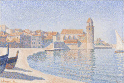 Premium poster  View of Collioure - Paul Signac