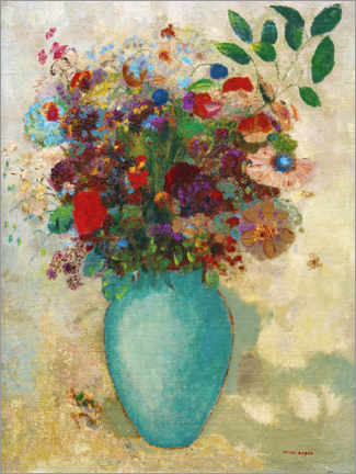 Gallery print  The big turquoise vase - Odilon Redon
