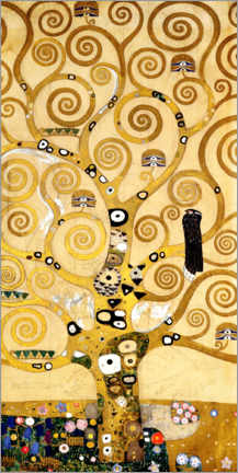 Foam board print  The tree of life (central panel) - Gustav Klimt