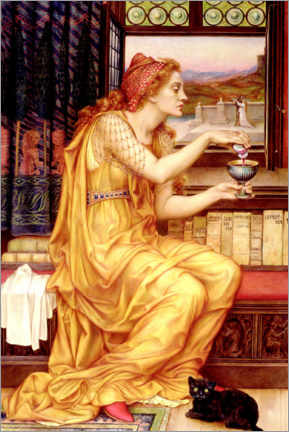 Canvas print  The love potion - Evelyn De Morgan