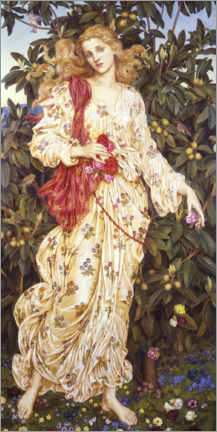 Premium poster  Flora - Evelyn De Morgan