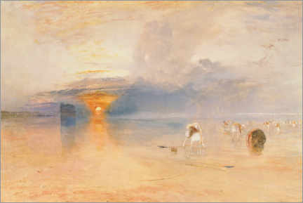 Wall sticker  Calais Sands at Low Water, Poissards Gathering Bait - Joseph Mallord William Turner