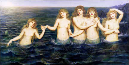 Canvas print  The mermaids - Evelyn De Morgan