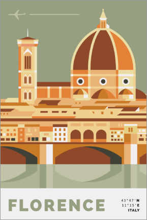 Canvas print  duomo in florence - Nigel Sandor