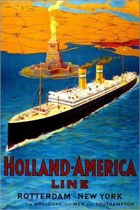 Gallery print  Holland America Line - Rotterdam to New York - Travel Collection