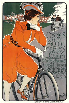 Premium poster  Bicycles and automobiles - Georges Gaudy