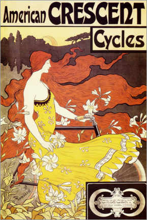 Premium poster American Crescent Bicycles