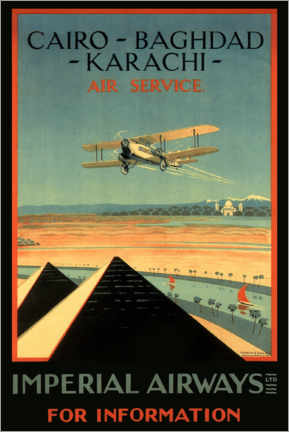 Foam board print  Imperial Airways - Cairo to Karachi - Travel Collection