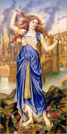 Canvas print  Cassandra - Evelyn De Morgan