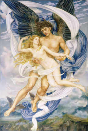 Foam board print  Boreas and Oreithyia - Evelyn De Morgan