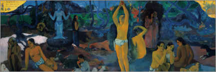 Acrylic print  Where do we come from - Paul Gauguin