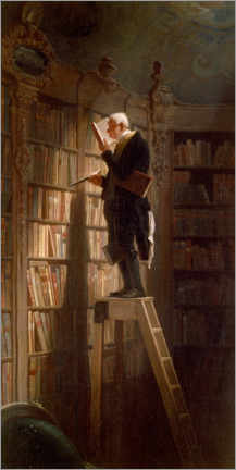 Acrylic print  The bookworm - Carl Spitzweg