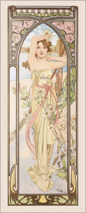 Canvas print  The Times of the Day - Brightness of the Day - Alfons Mucha