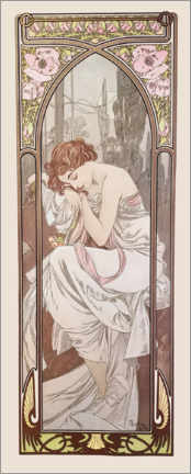 Canvas print  The Times of the Day - Night's Rest - Alfons Mucha