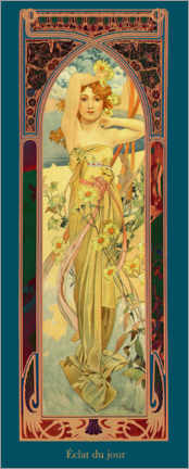 Premium poster  The Times of the Day - Brightness of the Day - Alfons Mucha