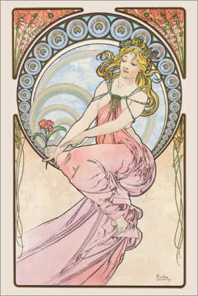 Acrylic print  The Arts - Painting - Alfons Mucha