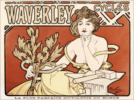 Premium poster Advertisement for Waverley Cycles