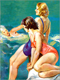 John La Gatta - 3 women at the sea